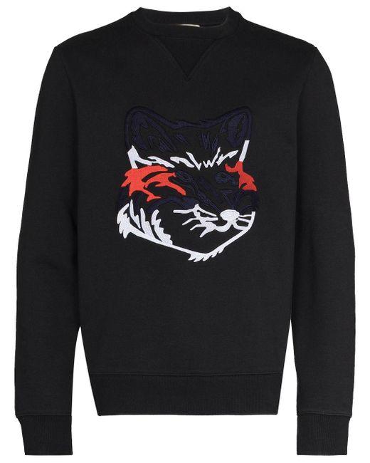 メンズ Maison Kitsuné エンブロイダリー スウェットシャツ Black