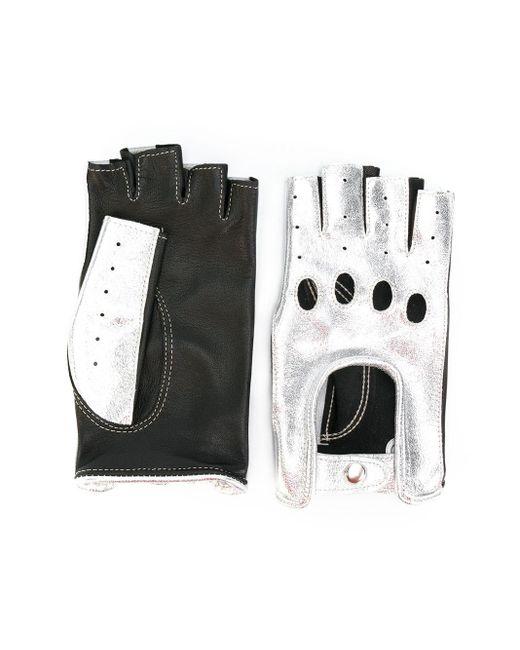 Manokhi メタリック手袋 Black