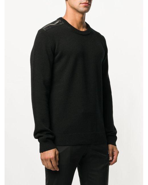 Pull à zip épaule Les Hommes pour homme en coloris Black
