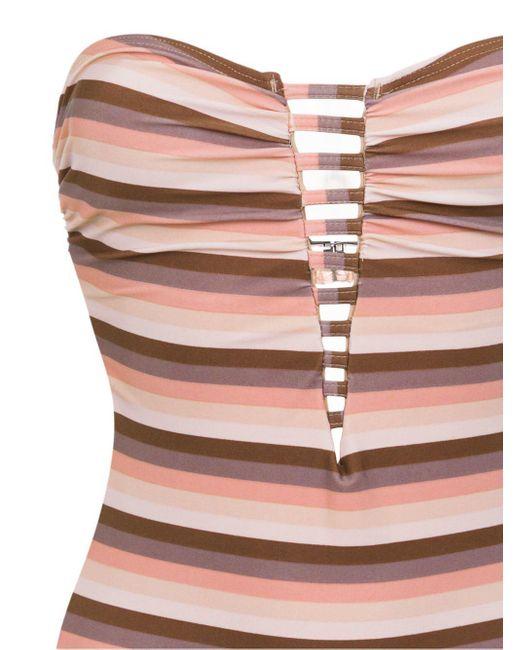 Striped Swimsuit Amir Slama, цвет: Brown