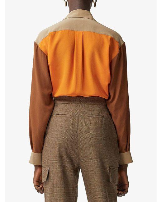 Рубашка В Стиле Колор-блок Burberry, цвет: Brown