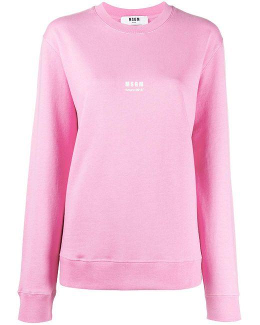 MSGM ロゴ スウェットシャツ Pink