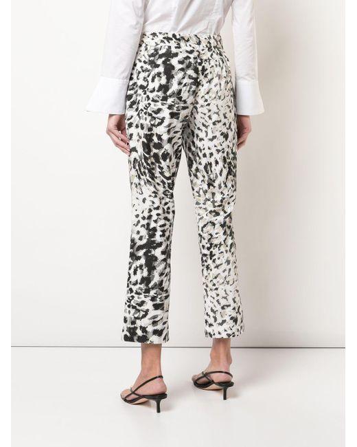 Natori Pantalones capri con estampado de leopardo de mujer de color gris