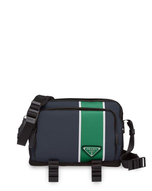 メンズ Prada カラーブロック メッセンジャーバッグ Multicolor