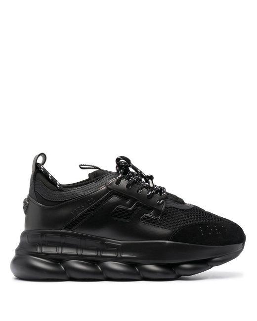 Кроссовки С Сетчатыми Вставками Versace для него, цвет: Black