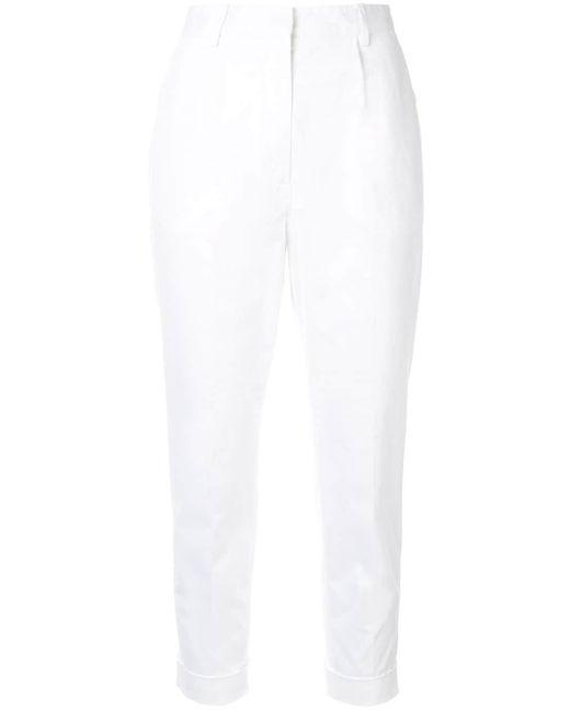 N°21 クロップドパンツ White