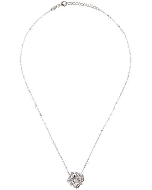 AS29 Roselia Flower Line ダイヤモンド ネックレス 18kホワイトゴールド Multicolor