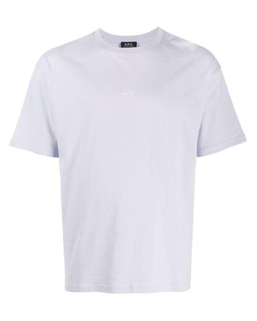 メンズ A.P.C. ロゴ Tシャツ Purple