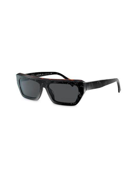 Alain Mikli Women's Black Armitage Rectangular Frame Sunglasses