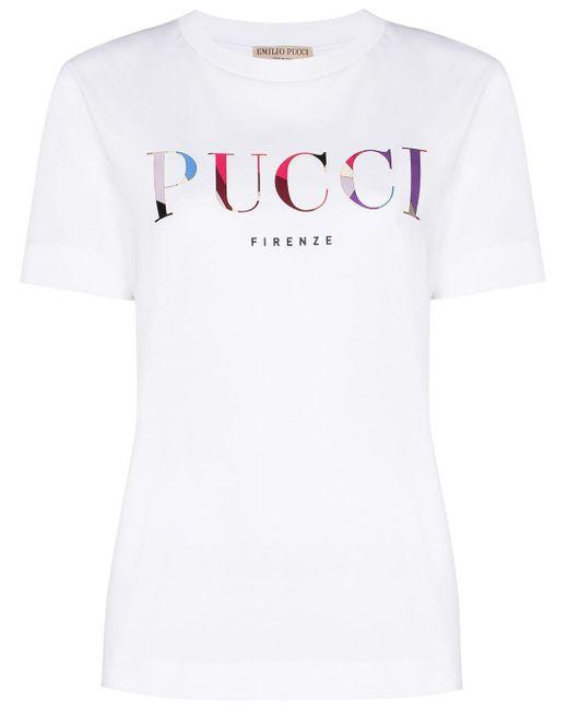 Emilio Pucci ロゴ Tシャツ White