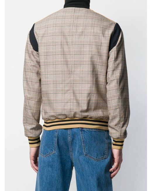 7cbfd5a47 Stella McCartney Zipped Check Bomber Jacket for Men - Save 27% - Lyst