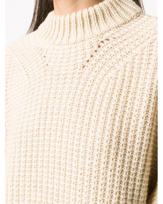 Essentiel Antwerp リブニットセーター Natural