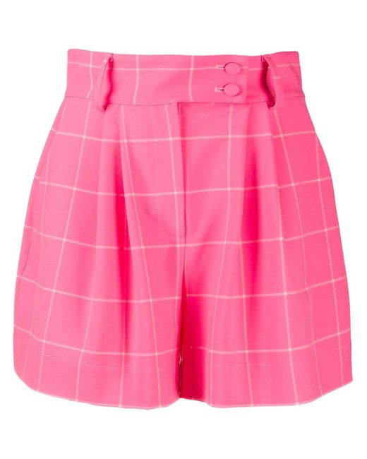 Styland チェック ショートパンツ Pink