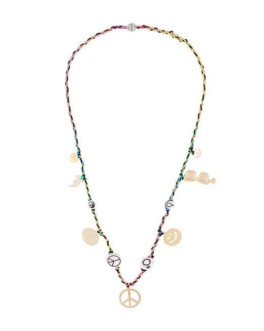 Venessa Arizaga - Multicolor Peace Charm Necklace - Lyst