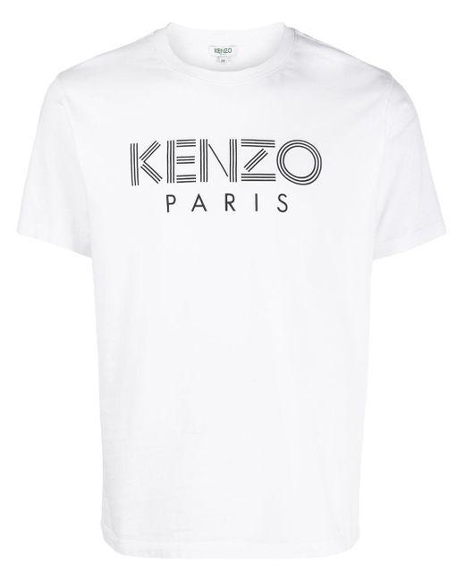 Футболка С Логотипом KENZO для него, цвет: White