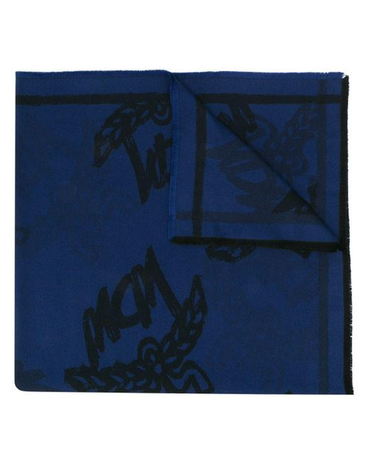 Шарф С Логотипом MCM, цвет: Blue