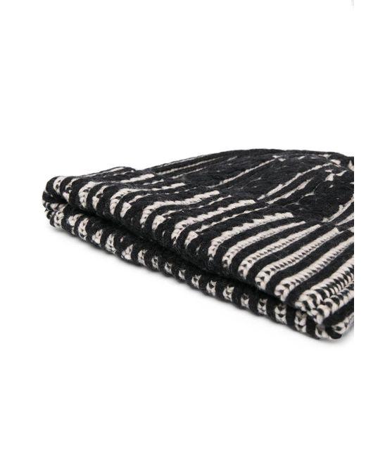 Шапка Бини Фактурной Вязки Alexander McQueen для него, цвет: Black