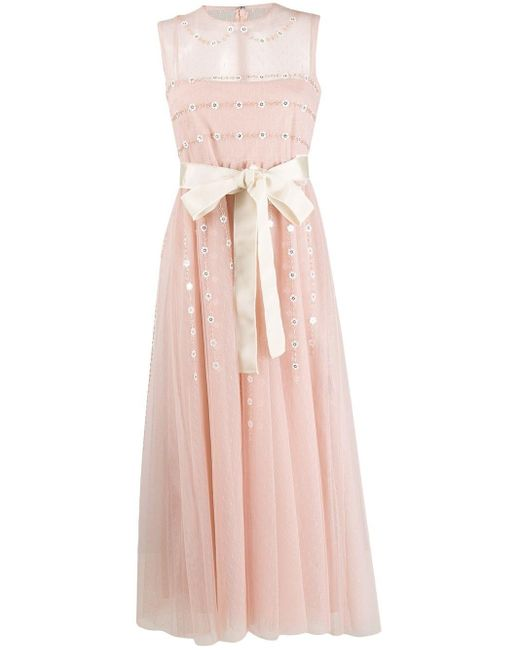 RED Valentino シアーディテール ドレス Pink