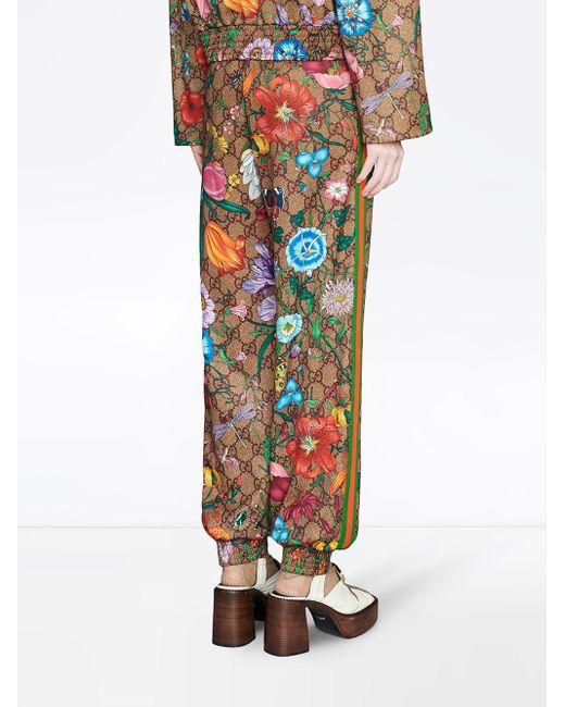 Gucci GGフローラ トラックパンツ Multicolor