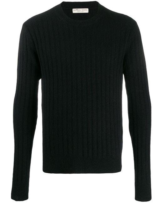 メンズ Bottega Veneta リブニット セーター Black
