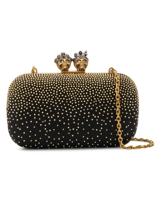 Alexander McQueen Queen & King ショルダーバッグ Black