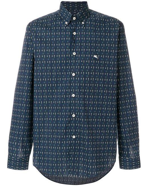 Etro - Blue Suit Print Button Down Shirt for Men - Lyst