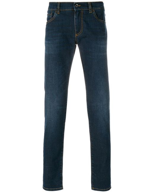 Dolce & Gabbana - Blue Slim Fit Jeans for Men - Lyst