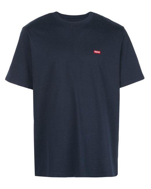 メンズ Supreme ロゴ Tシャツ Blue