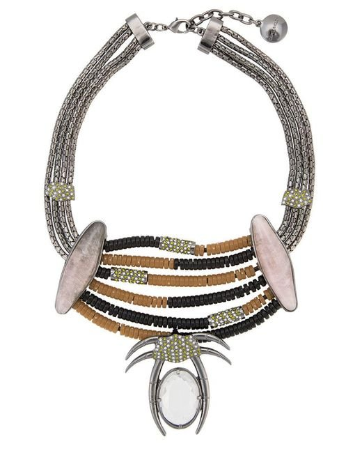 Camila Klein - Metallic Appliqué Necklace - Lyst