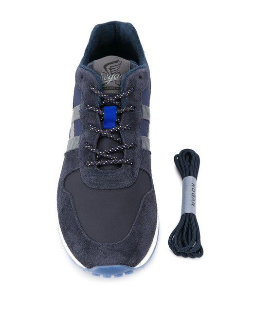 Кроссовки H383 Hogan для него, цвет: Blue