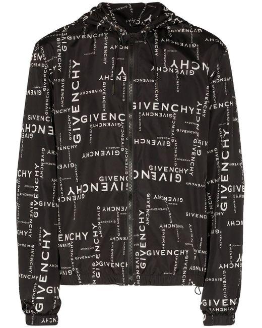 メンズ Givenchy ロゴ ウインドブレーカー Black