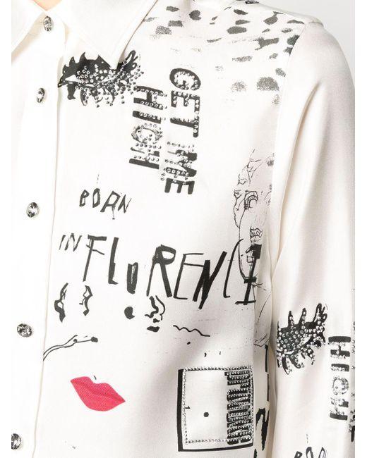 Ermanno Scervino グラフィック Tシャツ White