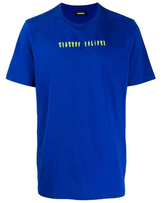 メンズ DIESEL Alchemy From Above Tシャツ Blue