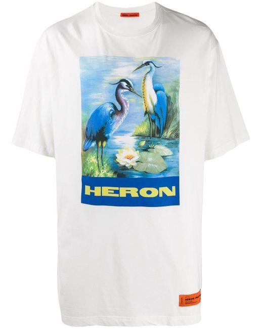 メンズ Heron Preston オフホワイト Heron バード T シャツ Blue