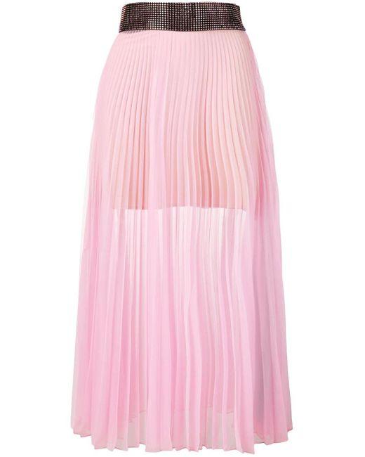 Christopher Kane メッシュ プリーツスカート Pink