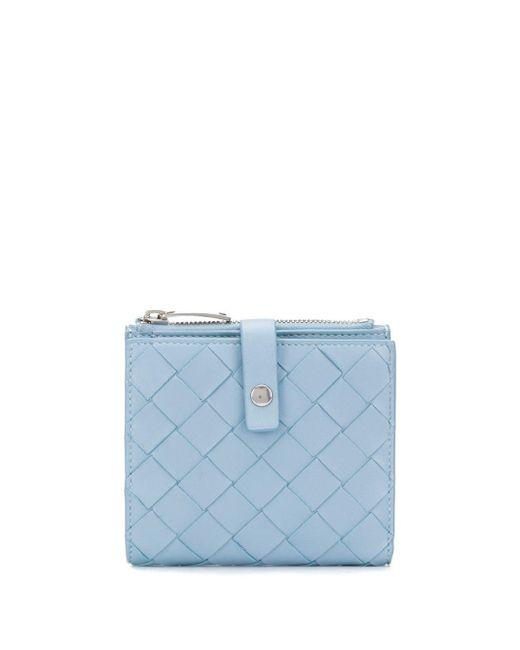 Bottega Veneta イントレチャート 財布 Blue
