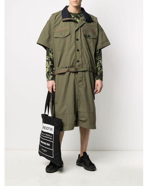 メンズ Sacai オーバーサイズ ジャンプスーツ Green