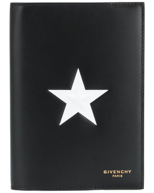 Givenchy - Black Star Patch Passport Holder for Men - Lyst