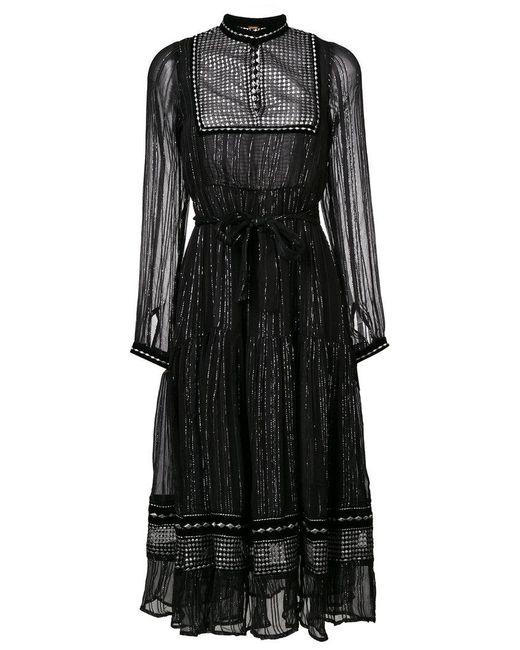 Dodo Bar Or | Black High Neck Midi Dress | Lyst