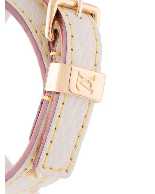 Louis Vuitton 2003 プレオウンド Suhali Double Tour ブレスレット Multicolor