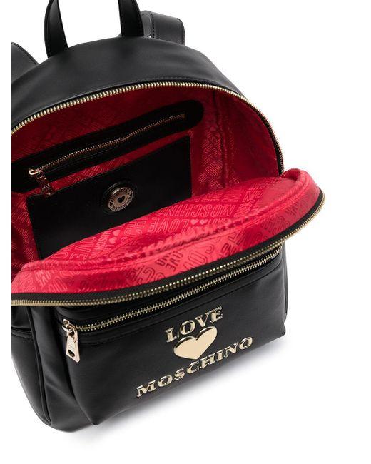 Love Moschino ロゴ バックパック Black