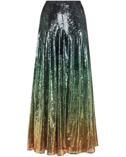Mary Katrantzou スパンコールスカート Green