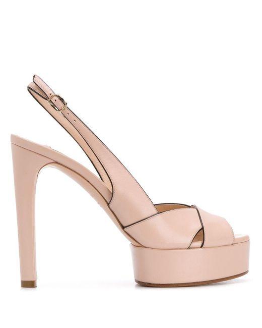 Casadei カラーブロックサンダル Pink