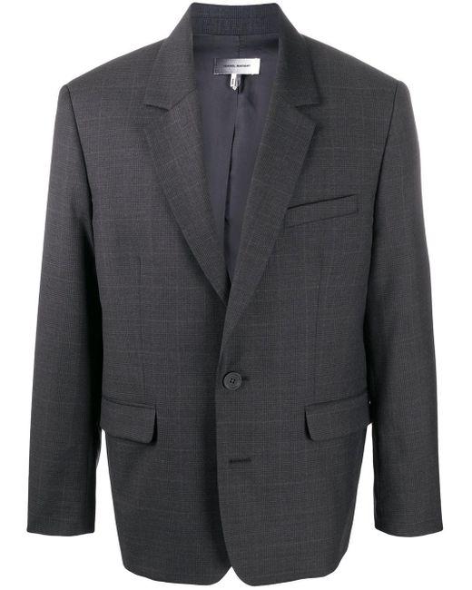 メンズ Isabel Marant チェック シングルジャケット Gray