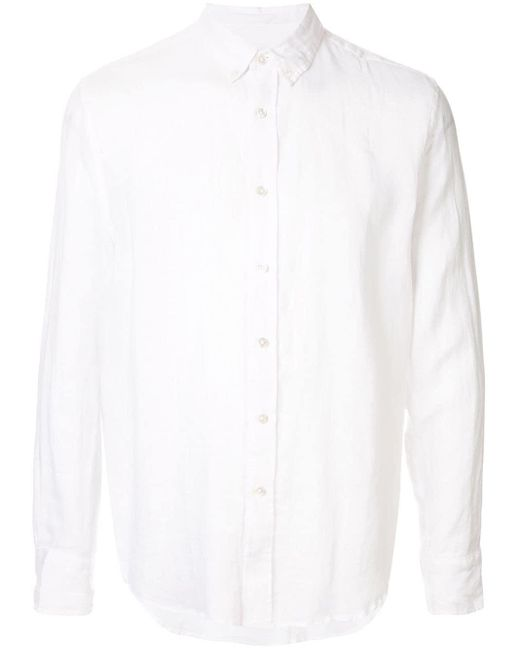 Venroy White Signature Long Sleeve Shirt for men