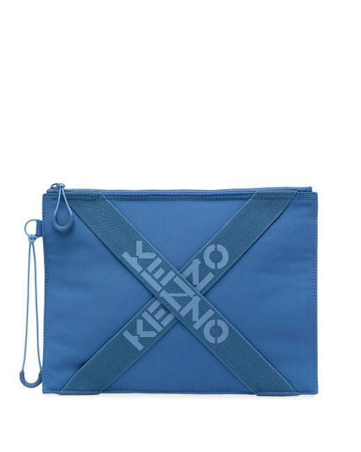 メンズ KENZO ロゴポーチ Blue