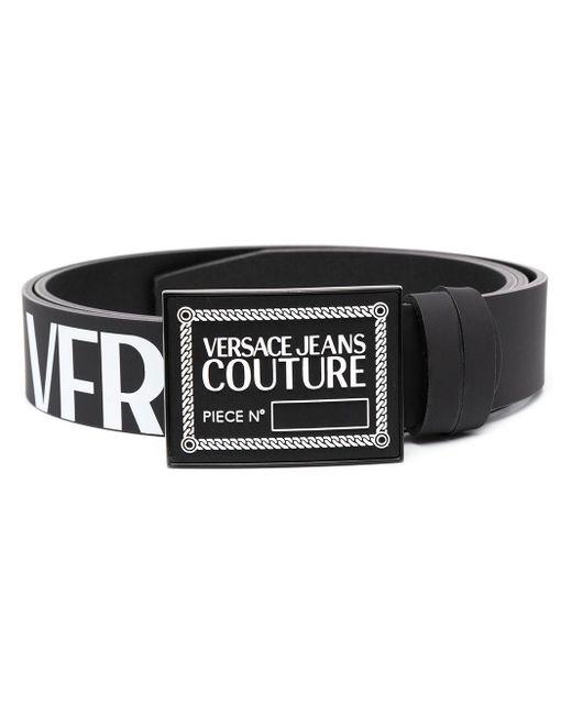 メンズ Versace Jeans ロゴプレート ベルト Black
