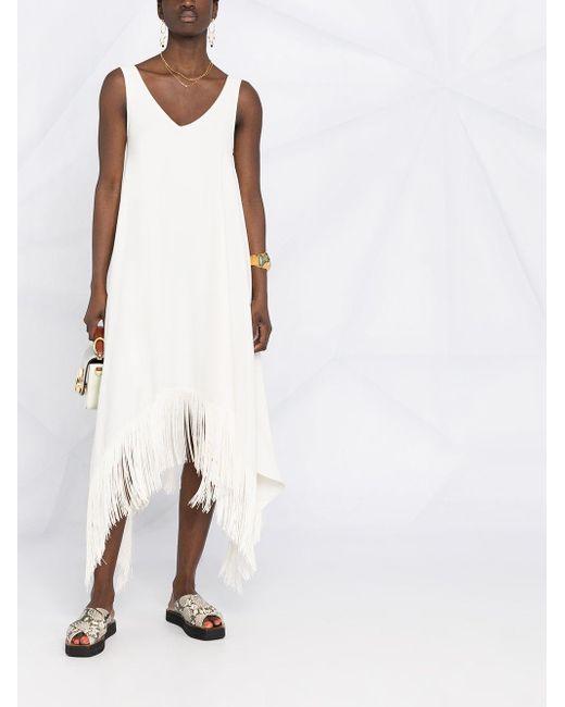P.A.R.O.S.H. ノースリーブ ドレス White