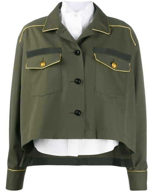 Sacai シャツジャケット Green