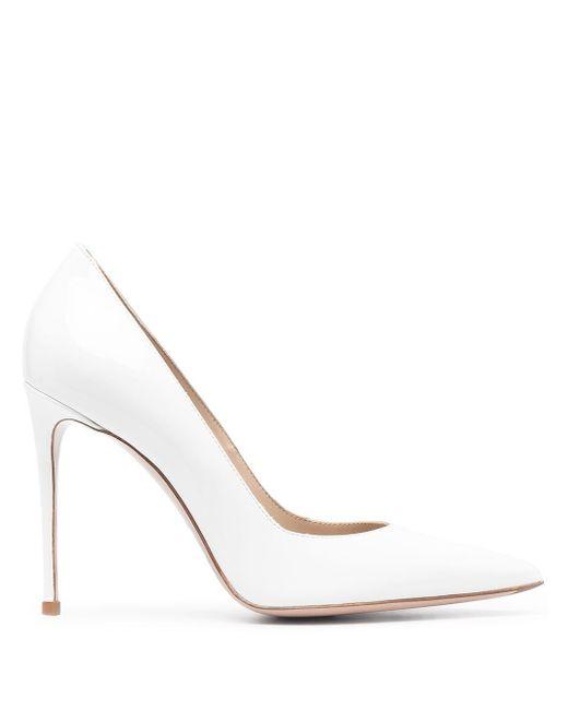 Le Silla White Pointed Toe Pumps
